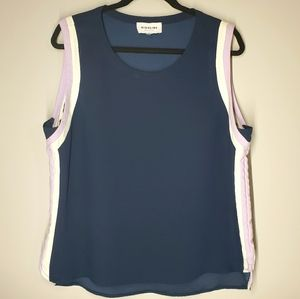 HIGHLINE COLLECTIVE Navy Sleeveless Top Size L